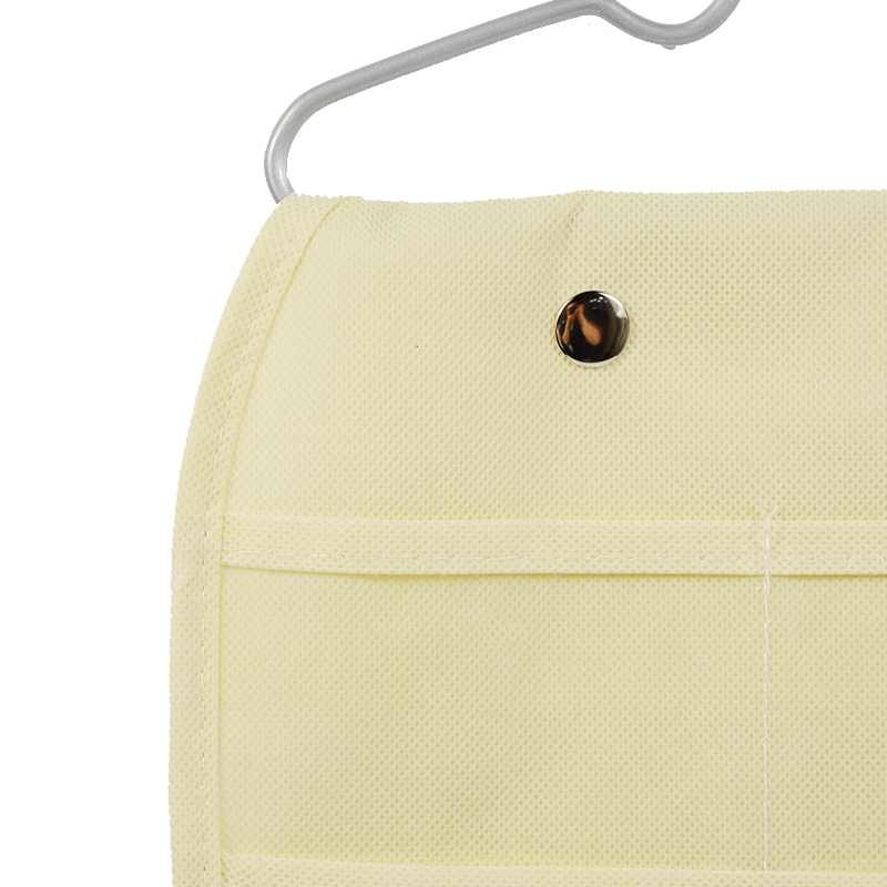 40 Pockets Double Sided Jewelry Hanging Storage Bag Non woven