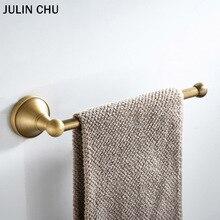 Toallero de bronce con soporte para toallas negro dorado, accesorios de baño, toallero de anilla antiguo, barra para toallas blanca, soporte de papel de váter grande cromado de 30cm