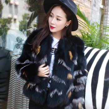 2016 New Arrival  100% Real Fox Fur Jacket Women's Coat BE-1601 Free Shipping 2