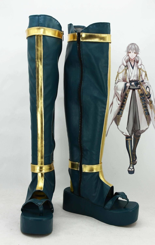New Touken Ranbu Online Tsurumaru Kuninaga cosplay shoes Anime boots Custom-made стоимость