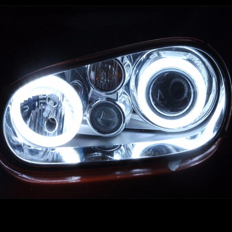 2X80mm COB Angel Eye LED Chip Car Light Super Brightness Vattentät Auto-strålkastare LED-belysningslampa med lock gratis frakt