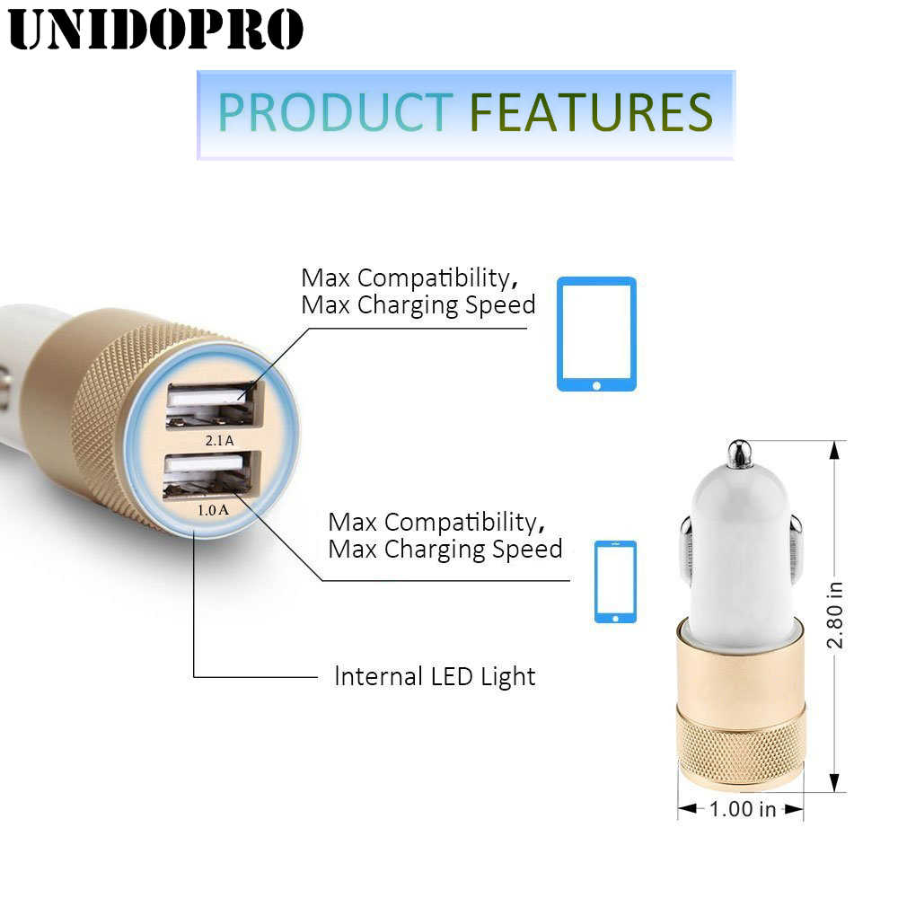 2.1A/24W 2-porty USB ładowarka samochodowa Adapter dla iPhone X XR XS Max 8 7 Plus 6 S 6 SE 5C 5S 4S 4 dla ipoda Touch 7 6