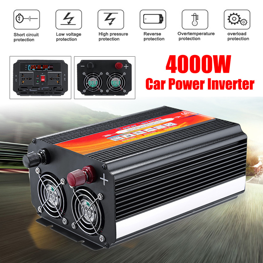 Kind-Hearted 8000w Car Power Inverter 12/24v To 110/220v Sine Wave Converter With Blade Fuses Dropshipping Hot Sale 2019 New Online Shop Car Repair Tools