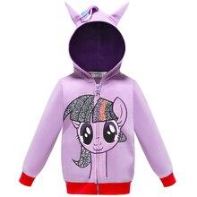 New Autumn My Little Poli Christmas Coat Kids Girls Rainbow Dash jacket Pony Chi
