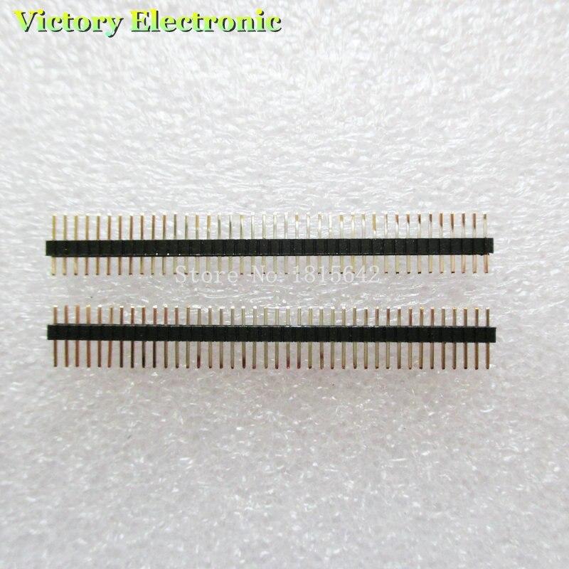 10PCS/LOT 1.27mm 40 Pin Male Single Row Pin Header Strip 1X40P