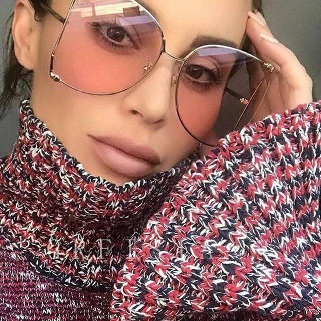 043b2cce43 RFOLVE tamaño cuadrado gafas de sol de las mujeres de marco de Metal de moda  de