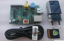 Free shipping Raspberry Pi Model B 512MB RAM,700Mhz,8G SD card,European standard power,model B Raspberry Pi,Rev 2.0 512MB RAM