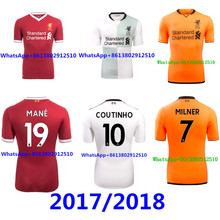 2017 Top Thai AAA quality Best Liverpooles adult Short sleeve Soccer jersey  17 18 Red black 3RD green men shirt Free shipping 031ba400d29a6