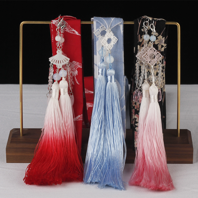 Hair And Antique Dovetail Hanfu Headdress Than Ancient Fairy Tassel Pendant Hair Rope Tied Hair Rope Performance Accessories