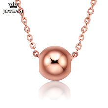 18k Gold Chain Charm 2017 Popular Lucky Bead Necklace Pendant Women Girl Gift Romantic Fashion Simple Charming Love Ball Good