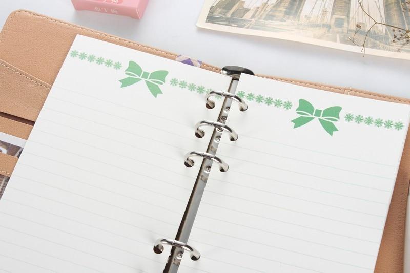 Feine Schule Schreibwaren A6 Domikee Original Kreative Nette Wassermelone Design Pvc 6 Löcher Innen Beutel Für Bindemittel Spirale Notebooks Office & School Supplies