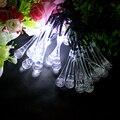 20 Partido LED Water Drop Shape cuerdas Garland Luces Solares de iluminación LED de Interior de la Navidad luces de Hadas de Vacaciones