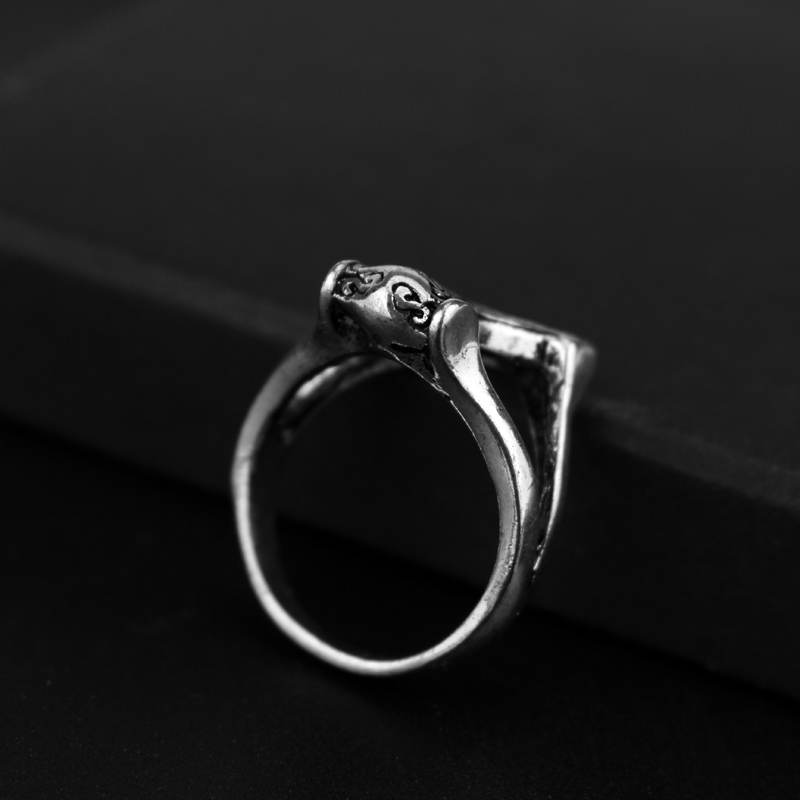 Cool Black Lion King vikings jewelry Thor Alloy Ring Thors Hammer