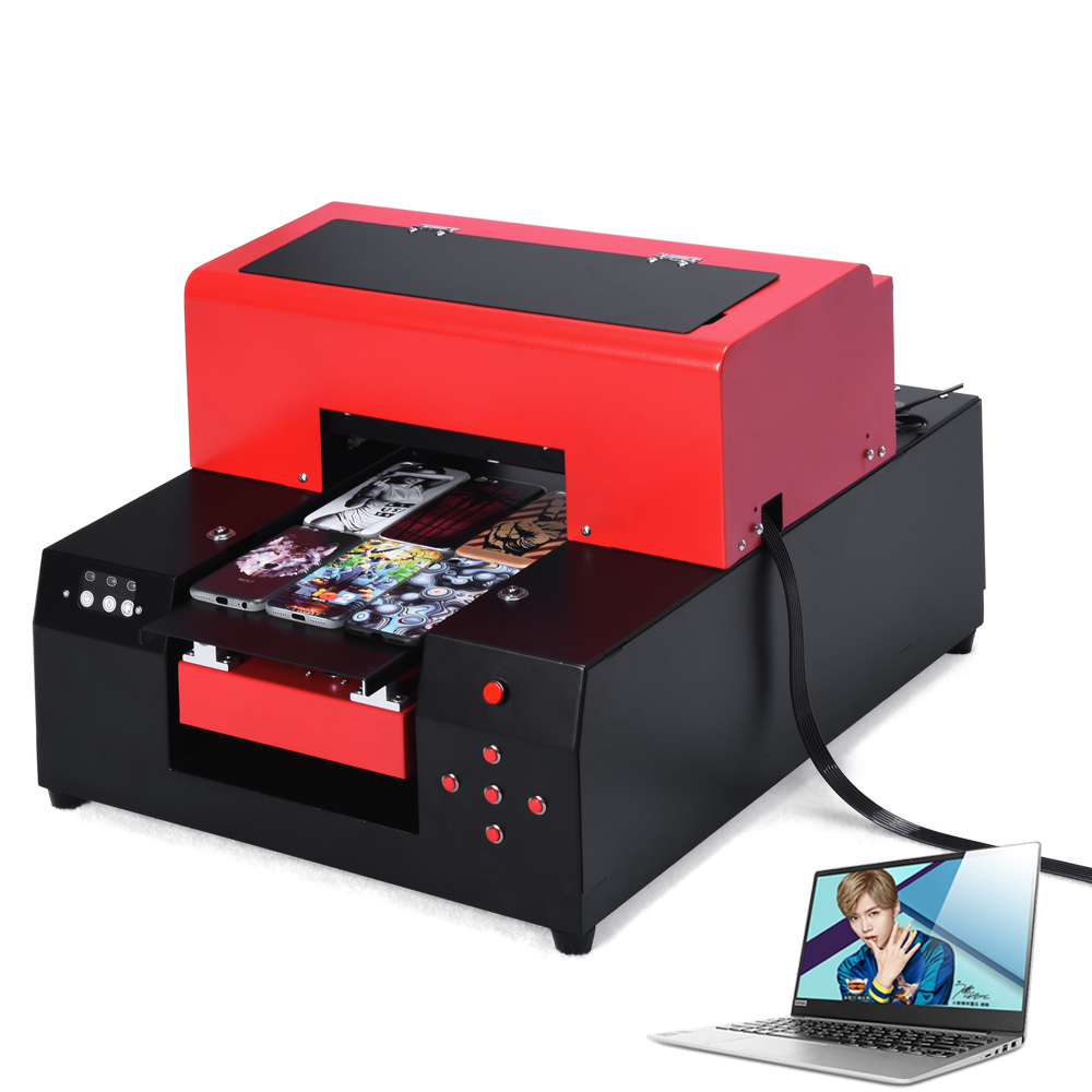 Upgrade Automastic Small size UV Printer A4 Size UV Flatbed with Computer For Phone Case/T-Shirt/ Leather High Quality small format a4 size ball pen pencil flatbed printer uv digital printer
