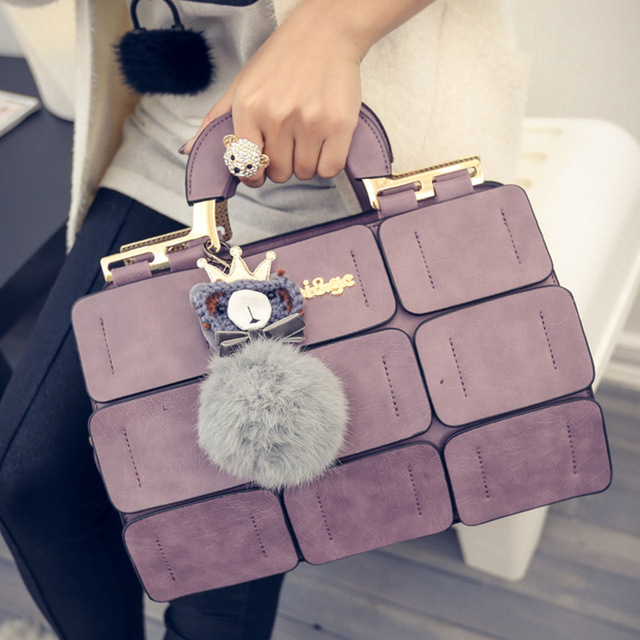 PU Leather Shoulder Messenger Bags Women Leather Handbags Bags 2019 New Style Fashion Bags & Shoes Tide Palace Lattice Shoulder