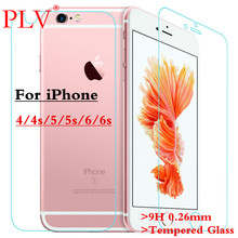 9H 0.26mm For iPhone 6 Glass Toughened Rrotective Film Front + Back Tempered Glass For iPhone 4 4s 5 5s 6 Plus Screen Protector