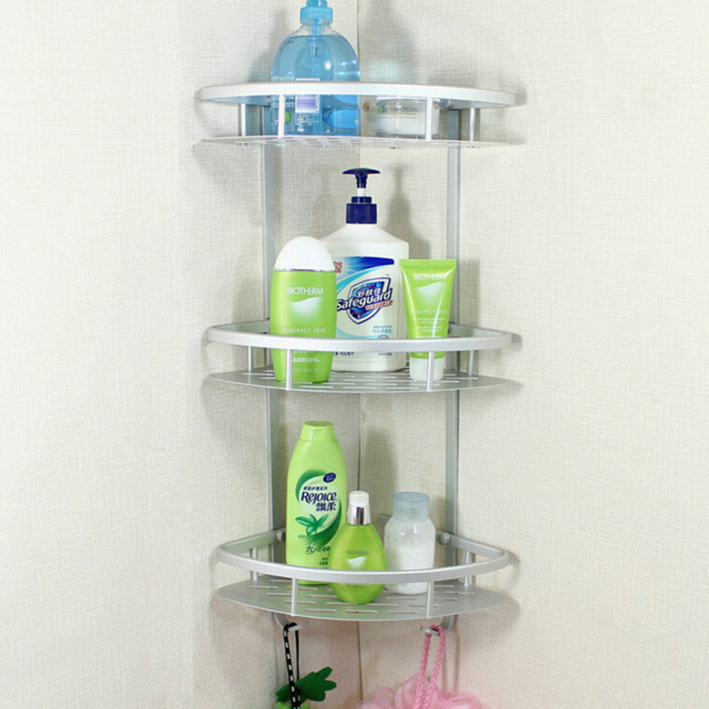 3 Layer Wall Mounted Bathroom Rack Towel Washing Shower Basket Bar ...
