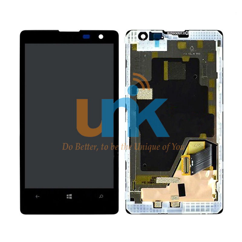 Original 4.5 inch For Nokia Lumia 1020 LCD Display Touch Screen Digitizer LCD Assembly with Frame+Free Shipping with Tracking