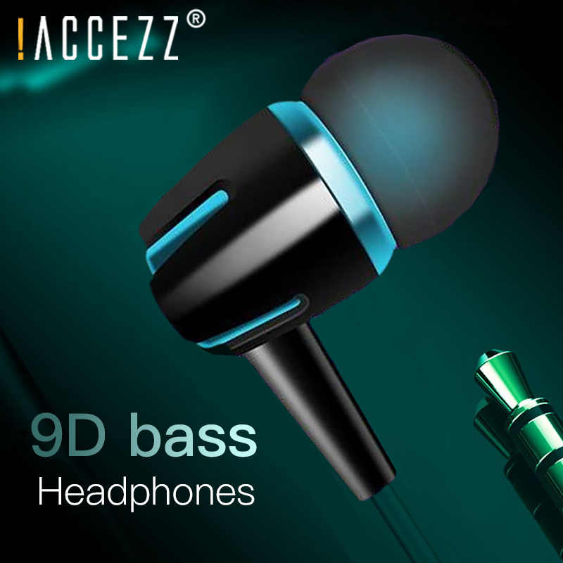 ! ACCEZZ In-Ear Koptelefoon Met Microfoon 3.5mm Audio Jack Koptelefoon Voor Xiaomi Samsung iphone 6 Headset Fone De Ouvido headset MP3