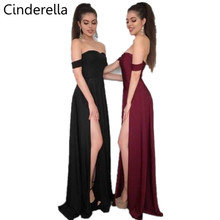 Cinderella Sexy Sweetheart Side Slit Elastic Satin Mermaid Bridesmaid Dresses Hot Red/Black Zipper Back