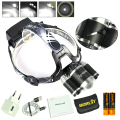 8000LM RJ-3000 Plus LED Headlamp 3L2 Micro usb  Headlight+Led Display ,Sos Whistle ,English Manual With 4400mah 18650 Battery