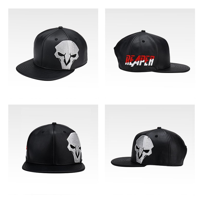 8e0ba20251b13 TEE7 2017 Hot Game OW PU Baseball Cap hat Reaper Soldier76 Cosplay ...