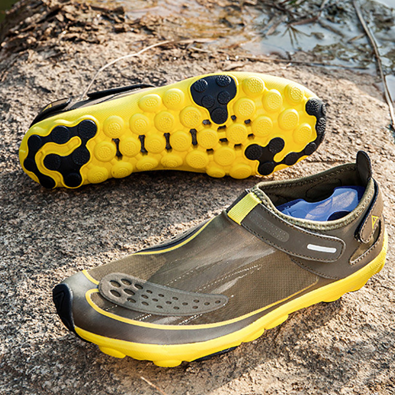 EU36-47 Brown Yellow Blue Hiking Outdoor Sandals Water Sports Boating Shoes Aqua Shoes For Man аксессуар заспинный колчан bowmaster tento ref yellow brown 277