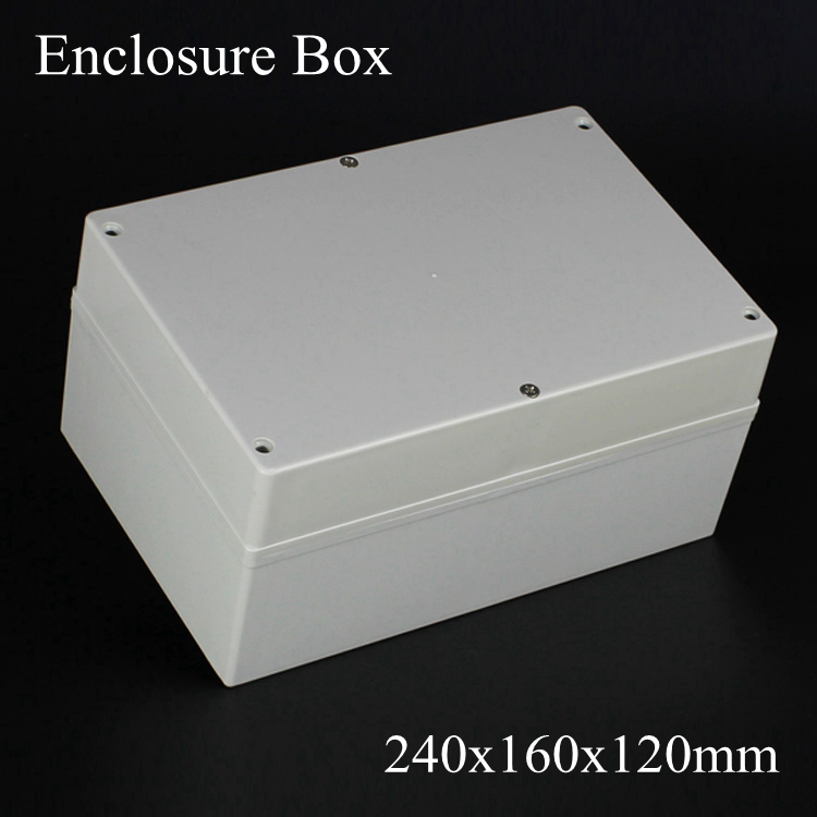 (1 piece/lot) 240*160*120mm Grey ABS Plastic IP65 Waterproof Enclosure PVC Junction Box Electronic Project Instrument Case waterproof abs plastic electronic box white case 6 size