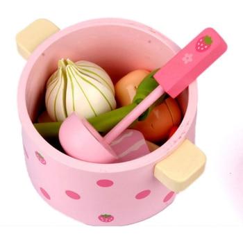 Nuevo Juguete De Madera Simulando Jugar A La Cocina Cortar Alimentos Vegetales Juego De Té Juguetes Niños Cumpleaños Juguetes Educativos Regalo D69