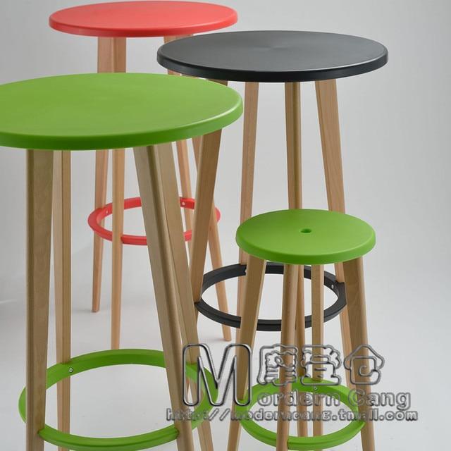 Entrepôt moderne tables de Bar en bois massif tabouret de Bar jardin ...