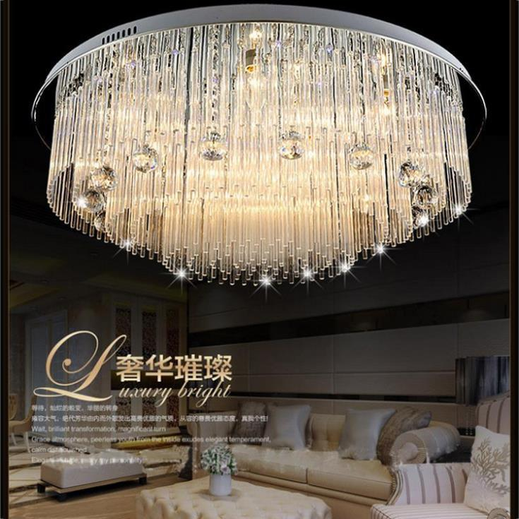 kristall deckenleuchte lampa sufitowa Modern flush mount led crystal ceiling chandelier lighting fixtures with remote control