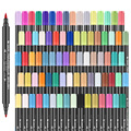 STA 3110 12/24/36/48/80 Colors Dual Tips Colored Water-Soluble Marker Pen Non-toxic Brush Markers For Art Design