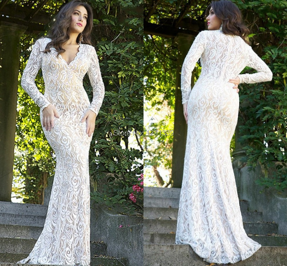 Long White Prom Dress 2015