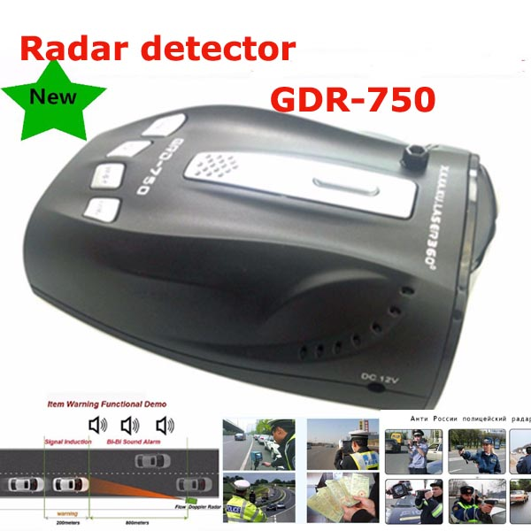 Meilleur détecteur de Radar de voiture GDR-750 alerte vocale système d'alarme de vitesse de voiture détection de 360 degrés VG-2 immunité Mode ville et autoroute