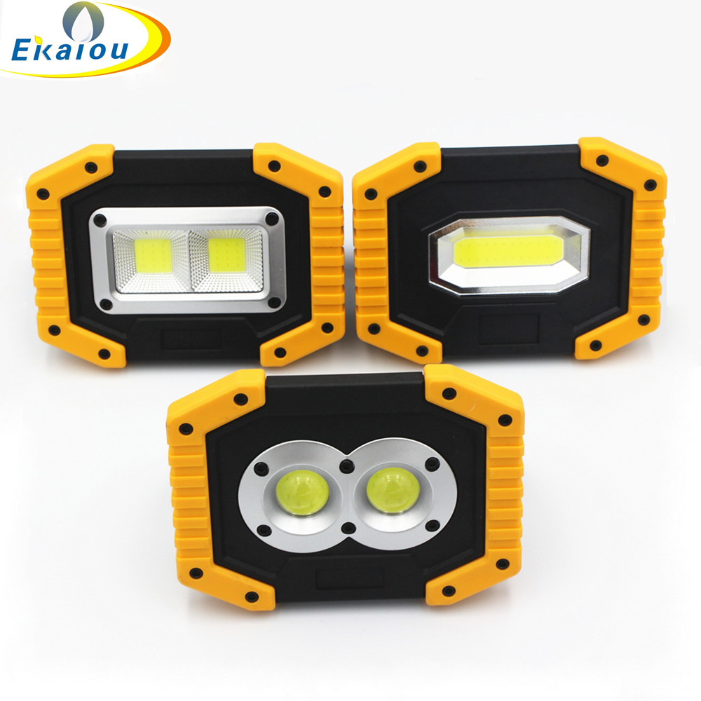 new Outdoor Survival Camping Light Rechargeable COB Flashlight LED Work Light 18650 20W Large high brightness USB light image