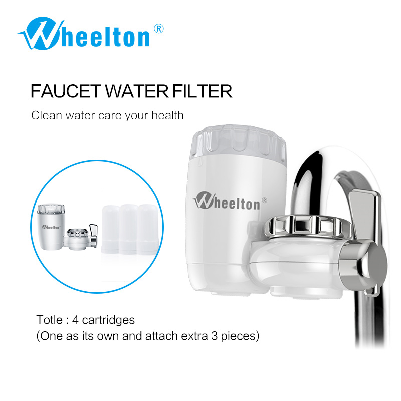 Wheelton 8 lagen zuivering Keramisch filter voor waterfilterreiniger keukenkraan Bevestig extra 3 cartridges Freeshipping