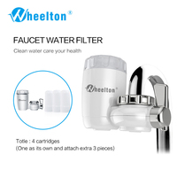 8 Layers Purification Ceramic Filter For Household Water Filter Purifier Kitchen Faucet Attach Extra 3 Cartridges