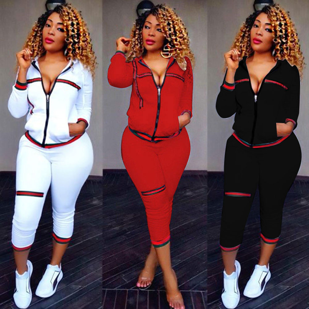 2PCS Womens Tracksuits Set Ladies 2019 New Brand Autumn Long Sleeve Casual O-Neck Hoodies +long Pants Plus Size спортивный кост