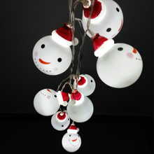 10LED Festival gift Snowman Christmas Tree Decoration pendant lamp series