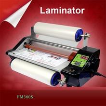 CNC плавная регулировка скорости модуляции fm360s горячей и холодной Ламинаторы горячей монтируется наклейки холодная установлен фото ламинирования machine110v/220 В