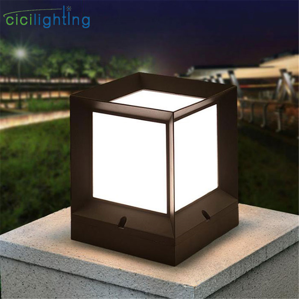 Modern Outdoor Path Lights Black