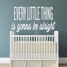 Creative every little thing is gonna be alright Vinyl Wall Sticker Home Decor Stikers vinyl Stickers Home Decoration Wallpaper цена