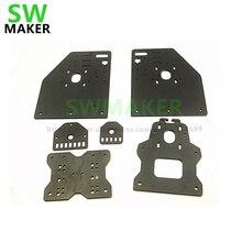 SWMAKER OX CNC алюминиевые пластины комплект OX CNC подвижная плата комплект Openbuilds маршрутизатор OX CNC Kit vslot с универсальной резьбой панель-кассета