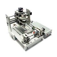 Деревообрабатывающий станок с ЧПУ Mach3 Управление 4 Axis CNC 3D гравировальный станок с 300 Вт шпинделя мини токарная обработка древесины машина PCB