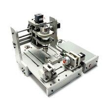 Деревообрабатывающий станок с ЧПУ Mach3 Управление 4 Axis CNC 3D гравировальный станок с 300 Вт шпинделя мини токарная обработка древесины машина PCB фрезерный станок