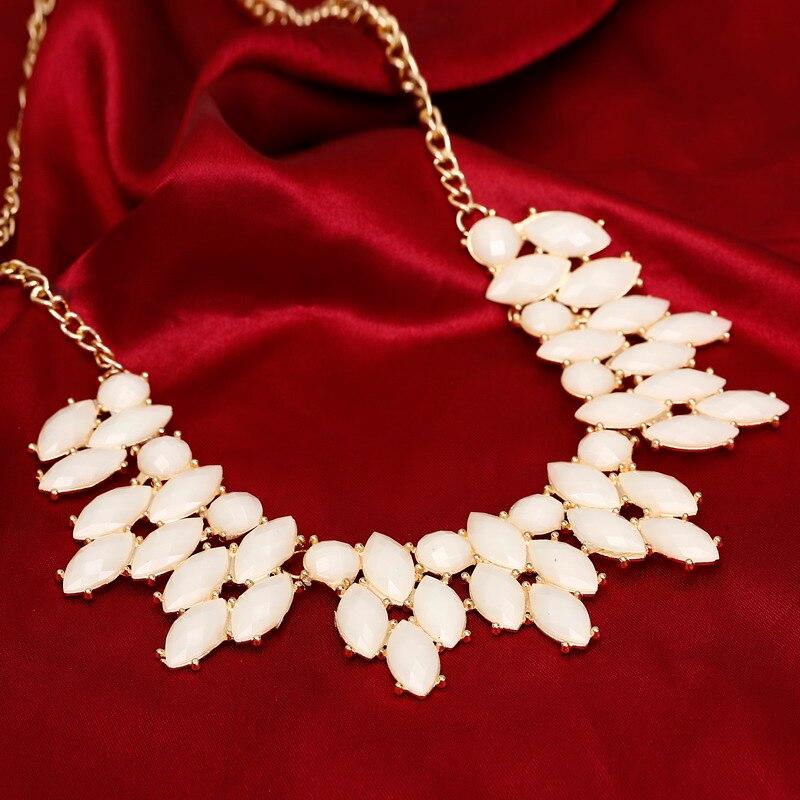 Perles acryliques colorées faites à la main collier Chcoker pour les femmes tissage colliers et pendentifs déclaration bijoux pour femmes nouveaux bijoux