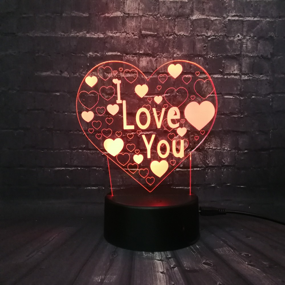 Led Lamps Kind-Hearted 4 Stars Love Colorful Night Light Touch Switch Bedroom Bedside Atmosphere Lights Holiday Decoration Lights Valentines Day Gift Led Night Lights