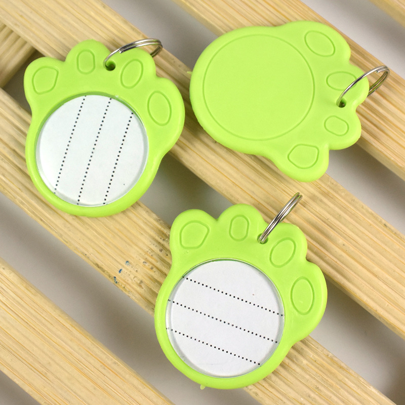 TAILUP Noctilucous Pet Dog ID Tag Personalized Puppy Cat Name Address Phone Information Tag Plastic Pet Pendant