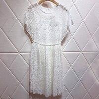 Элегантные женское платье миди белые летние сексуальные женские цветочные Вышитые по колено платья женские платья а силуэта без рукавов с