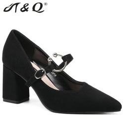 T q 2017 autumn women pumps 8cm fashion sexy high heels shoes metal buckle pointed toe.jpg 250x250
